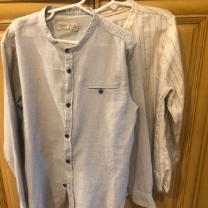 2 boys button down shirts size 10